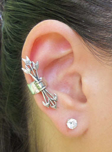 Silver Quiver And Arrows Ear Cuff Marty Magic Store