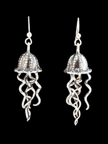 Jellyfish Earrings - Silver
