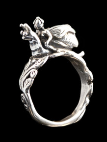 Fairy Snail Rider Ring Silver