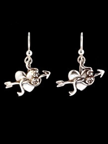Heart with Rose and Arrow Earrings