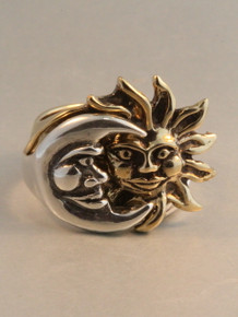 Sun Moon Eclipse Ring - Bronze and Silver Version