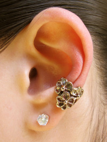 Daisy Love Ear Cuff Bronze