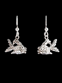 Goldfish Earrings - Silver