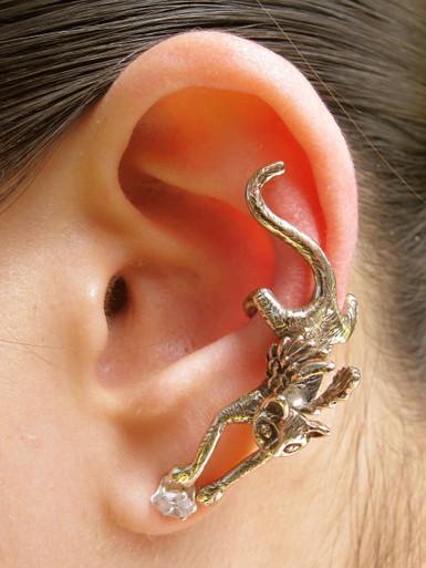 Angel Kitty Ear Cuff Bronze Marty Magic Store