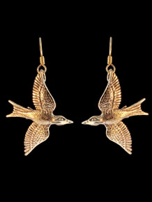 Bronze Mocking Jay Earrings