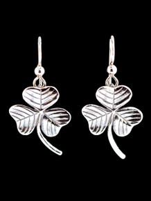 Shamrock Earrings - Silver