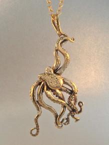 Sea Life - Large Octopus Pendant - Bronze