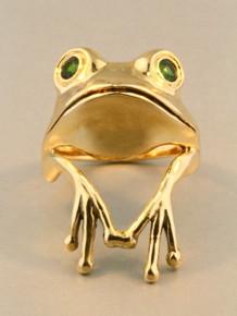 Gold - Tree Frog Finger Pet Ring - 14k Gold