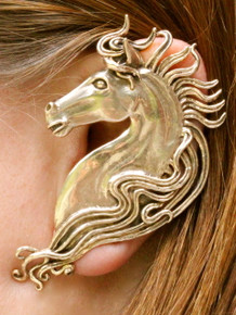 Spirit Horse Ear Wrap - Bronze