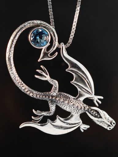 Balerion Dragon Pendant With Gemstone Marty Magic Store