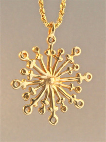 Christmas - Large Snowflake Charm - 14k Gold