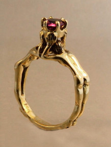 Crowning Lovers Ring with Amethyst - 14k Gold