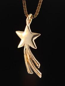 Celestial - Shooting Star Charm - Gold