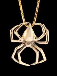 Large Spider Pendant - 14k Gold