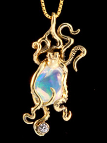 Atlantis Octopus Pendant - 18K Gold