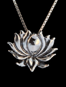 Lotus Charm in Sterling Silver