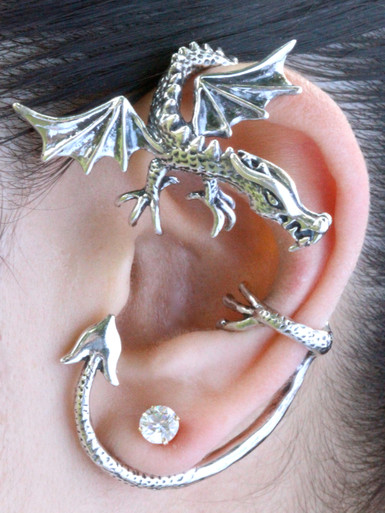 Dragon Guardian Ear Wrap Jewelry
