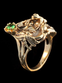 Frog - Lily Pond Ring - 14k Gold