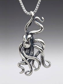 Sea Life - Octopus Charm - Silver