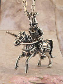 Sterling Silver Knight Pendant by Marty Magic