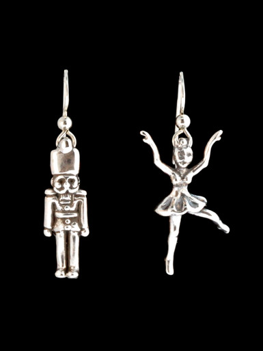 Christmas Nutcracker And Ballerina Earrings Jewelry