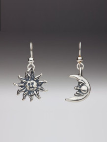 Sun and Moon Earring Set