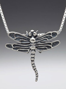 Metamorphosis - Dragonfly Pendant - Silver