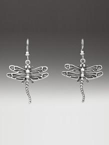 Dragonfly Earrings - Silver