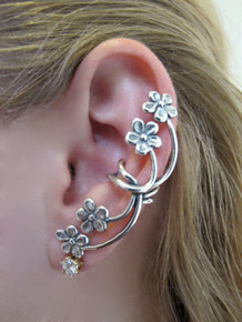 Forget Me Not Ear Cuff - Silver