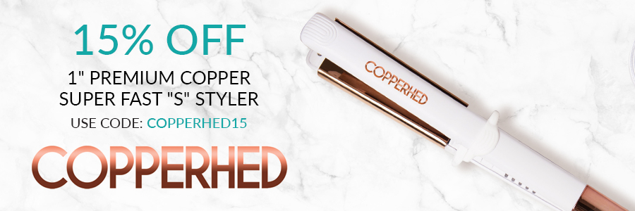 """15% Off 1"""" Super Fast """"S"""" Styler with code: copperhed15"""