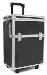 Hairart Black Aluminum Rolling Case