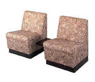 KAEMARK RECEPTION - TWO RECEPTION CHAIRS/ ATTACHED