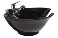 UPGRADE OPTION: Siena Ceramic Tilt Bowl-Black