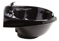 Keen Roma Wall Mount Ceramic Bowl-Black