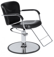 Round Chrome Base* w/U-Footrest