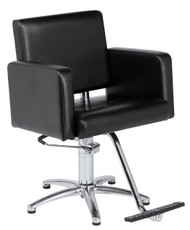 Styling Chair w 5 Star Chrome Base