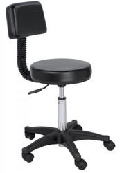 Black Color Bar Stool w/Back*