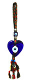 Heart Shape Evil Eye Wall Decor-with Handwoven Wool Strap