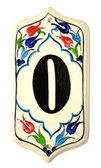 Hand Painted Ceramic House Number-0