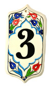 Hand Painted Ceramic House Number-3
