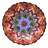 Turkish Ceramic Plate-10 inch/25cm-red