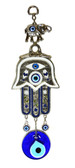 Hamsa & Evil Eye Wall Decor-navy