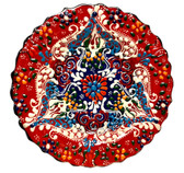 Turkish Ceramics~7 inch Plate-red