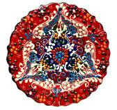 Turkish Ceramics~7 inch Plate-red