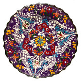 Turkish Ceramics~7 inch Plate-purple