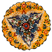 Turkish Ceramics~7 inch Plate-yellow