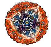 Turkish Ceramics~7 inch Plate-orange