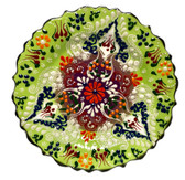 Turkish Ceramics~7 inch Plate-green