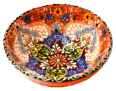 Turkish Ceramics~Large Bowl~orange