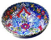 Turkish Ceramics~Large Bowl~navy